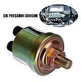 SinceY Interrupteur de Pression d'huile Moteur, capteur de Pression d'huile Double tête de sonde de Pression d'huile de Voiture 1 / 8NPT