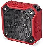 ION  AUDIO Dunk Tragbarer Bluetooth-Lautsprecher mit aufladbarem Akku, wasserdicht/staubresistent rot