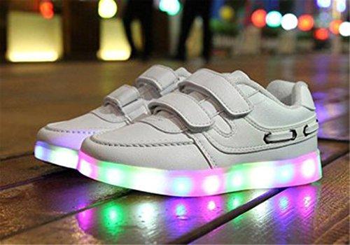 [Present:kleines Handtuch]JUNGLEST® Schwarz 7 Farbe Unisex LED-Beleuchtung Blink USB-Lade Turnschuh-Schuhe c12