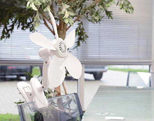 Sichler Haushaltsgeräte Tisch-Ventilator VT-131.C mit Befestigungs-Clip, 11 W, 34 cm -