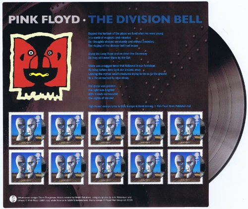 2010 Pink Floyd Division Bell Stamp Souvenir Sheet by Royal Mail