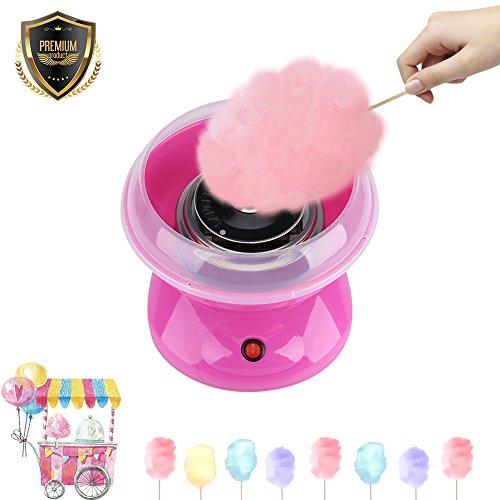 220V 500W Mini DIY Zuckerwattemaschine Elektrische Zuckerwatte Maker Zuckerwatte Maschine für Geburtstagsfeiern Kinder Geschenk EU Stecker(Rosa)