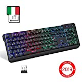 KLIMTM Chroma Tastiera Italiana per Gaming Wireless - Alte Performance - Colori...