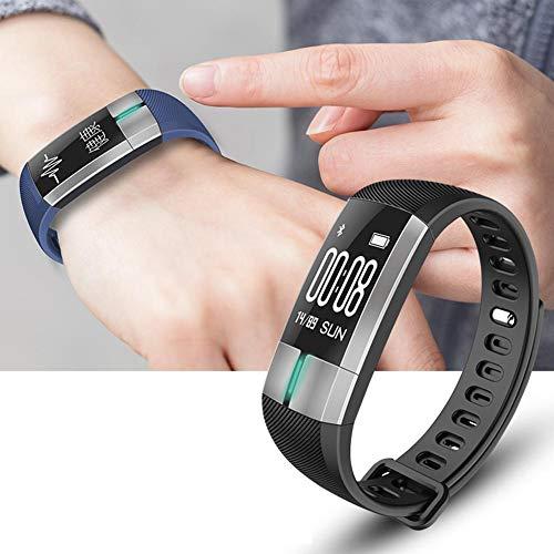 Biback G20 Smart-Armband, wasserdicht, Herzfrequenz, Blutdruck, Blutsauerstoff-Überwachung, Sport Smartwatch, Unisex, Schwarz