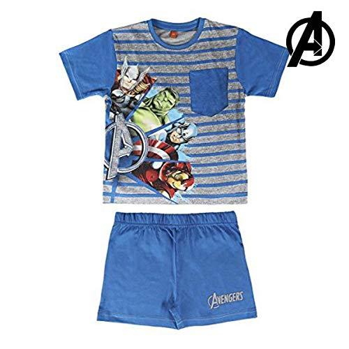 Los Vengadores - pijama manga corta 2 piezas 100%...