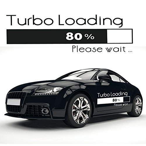 Turbo Loading Schriftzug Auto Aufkleber Tuning Sprüche Tolle Texte zum Verkleben |KB410