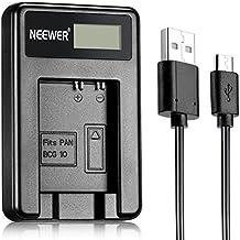Neewer® NW-BCG10 USB Cargador para Panasonic DMW-BCG10, DMW-BCG10E, DMW-BCG10PP Batería y Panasonic Lumix DMC-ZS7, DMC-ZS6, DMC-ZS10, DMC-ZS5, DMC-ZS3, DMC-ZS8, DMC-ZS1, DMC-ZR3, DMC-ZR1