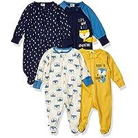 4 قطع ملابس سليب ان بلاي للاطفال للنوم واللعب للاولاد من جربر Fox حديث الولادة
