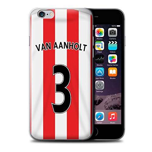 Offiziell Sunderland AFC Hülle / Case für Apple iPhone 6S+/Plus / Pack 24pcs Muster / SAFC Trikot Home 15/16 Kollektion Van Aanholt