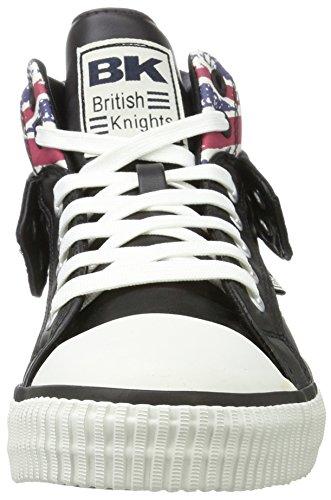 British Knights Roco, Sneaker Alte Uomo Schwarz (Textile Black/Union Jack)