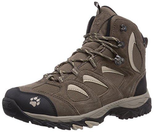 Jack Wolfskin MOUNTAIN ATTACK MID TEXAPORE W, Damen Trekking- & Wanderstiefel, Beige (sahara 5122), 42 EU (8 Damen UK) (Gelände-stiefel Alle Frauen)