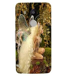 ColourCraft Lovely Angel Design Back Case Cover for LG GOOGLE NEXUS 5X