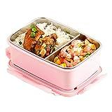 JIAYIBAO Lunch Box Metall Multifunktions Rosa Isolierte Lunchbox Doppelschicht