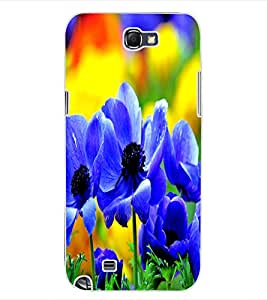 ColourCraft Beautiful Flowers Design Back Case Cover for SAMSUNG GALAXY NOTE 2 N7100