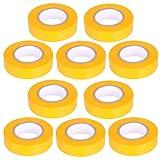 10 Stück PVC Isolierband Klebeband 10 Meter lang 15 mm breit -gelb-
