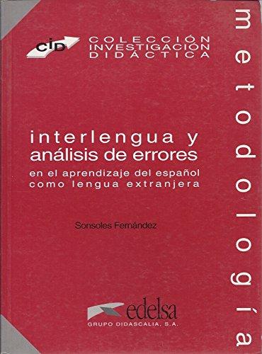 Interlengua y analisis de errores (8477111383) por Sonsoles Fernandez