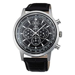 Orient Reloj Cronógrafo para Hombre de Cuarzo con Correa en Cuero FTV02003B0