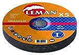 Leman 233049.05 Disque Fer ø230mm 5 pièces à tronçonner, Noir