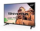 Televisores Led 40 Pulgadas Full HD Smart TD Systems K40DLM8FS. Resolución 1920 x 1080, 3X HDMI, VGA, 2X USB, Smart TV.