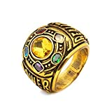 AOLVO Pharao geheimnisvolle Thanos Ringe Infinity War Soul Stein Power Ring Gold Ring Cosplay Kostüm Requisite 12