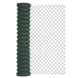 GAH-Alberts 604752 Maschendraht-Geflecht, grün, 1000 mm Höhe, 25 m Rolle, Maschenweite 60 x 60 mm, Drahtstärke 2,8 mm