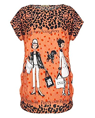 Table Ronde Legere - Femme Eté Casual Col Rond T-Shirt Imprimé