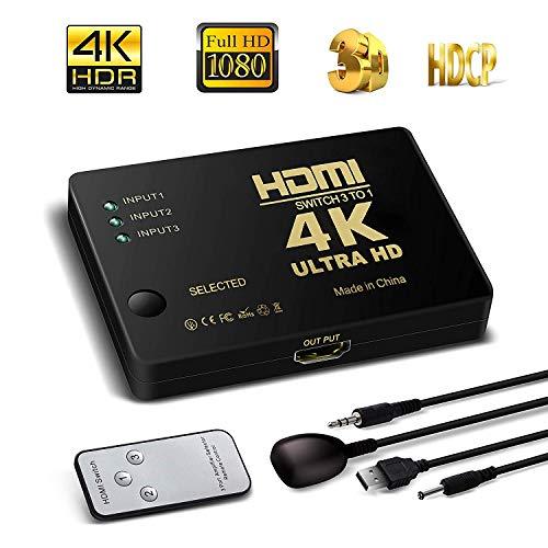3 in 1 out HDMI Switch 4K HDMI Conmutador 3 entradas