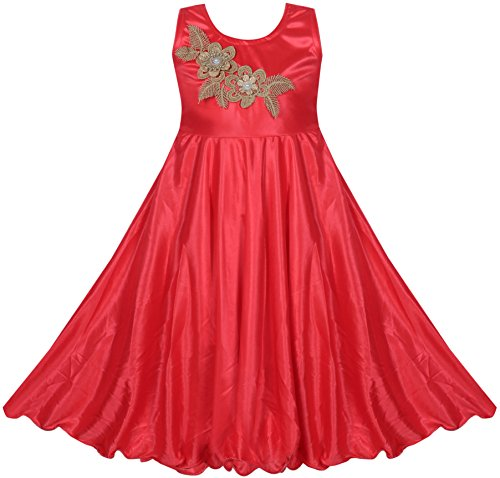 Benkils-Cute-Fashion-Baby-Girls-Bright-Satin-Lycra-Party-Wear-Frock-Dress-For