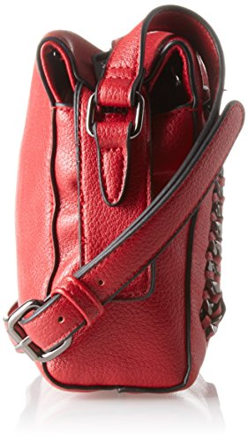 Gaudì Crossbody Linea Agata, Borsa a Mano Donna, 25 x 18 x 6 cm (W x H x L) Rosso (Red)