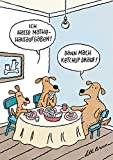 Postkarte A6 • 78801 ''Mathe mit Ketchup'' von Inkognito • Künstler: Lilli Bravo • Satire • Cartoons