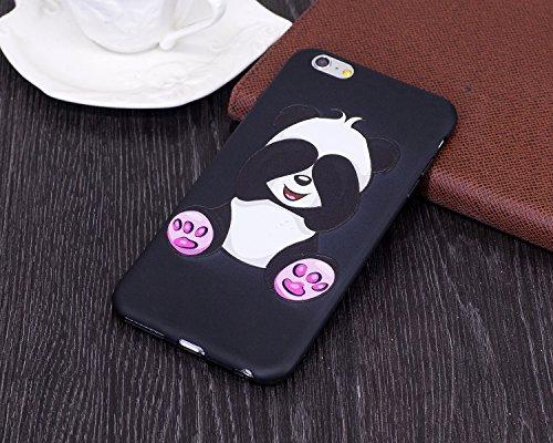 Custodia per iPhone 6/6S plus, Shell di TPU verniciata a rilievo Yheng Custodia protettiva in silicone Copertura mobile morbida e flessibile Ultra Thin Premium Caso posteriore antigraffio Farfalla do Panda gigante