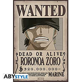 ABYstyle Studio ONE Piece - Poster Wanted Zoro New (52x38)