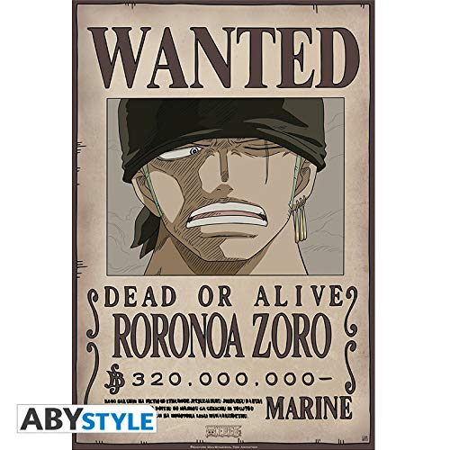 ONE PIECE - Poster Wanted Zoro New 52x38