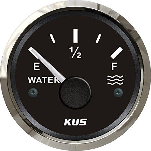 Preisvergleich Produktbild Kus Wasser Level Gauge Meter Anzeige 0–190ohm mit Hintergrundbeleuchtung 12 V / 24 V 52 mm (5, 1 cm)