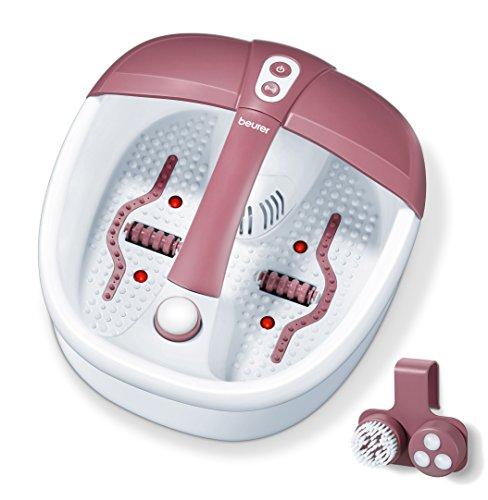 Beurer FB 35 Fußbad mit Vibrations und Sprudelmassage für Ihre Füße, Aroma-Therapie-Anwendung, inkl. Wassertemperierung Test