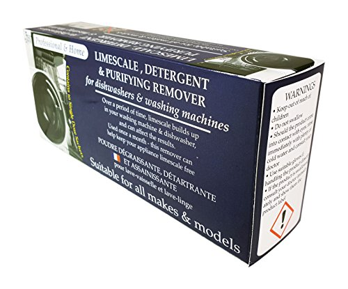 'Limescale & Detergent Remover for Washing Machines & Dishwashers 10 Applications, 10 months supply