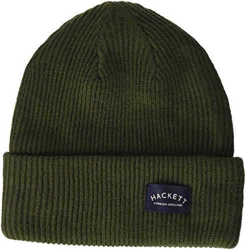 629a1ad343 Hackett London MC Knit Beanie, (Military Olive), (Taille Fabricant: 000