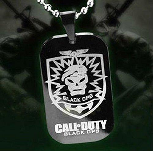 Rufen Sie Halskette Anhänger Tag Duty Modern Operationen schwarz Shirt Hund mit Kette (Halskette Call Of Duty)