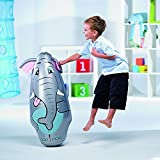 Cucuba® BESTWAY 52152 BOP BAGS AUSBLASBARER TIERE BOXSACK 91CM PUNCHING BALL KAMMER ZUM BEFÜLLEN MIT SAND FÜR MAXIMALE STABILITÄT GEEIGNET FÜR KINDER AB 3 JAHREN - GESCHENKIDEE (Ausblasbarer Boxsack Elefant)