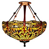 Demayple Professionelle Hand Made Beautiful Tiffany Style Pendant Lampe 20-Zoll-Sucht für Restaurant Bar Hotel Motel und Home Setting