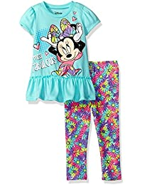 Disney Baby Girls Minnie Mouse Legging Set with Fashion Top