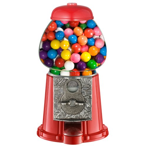 Great Northern 38,1cm Vintage Candy Gumball Machine et Banque avec Support, Tout Le Monde Adore pour Ordinateur, Red, 11'