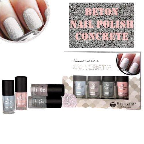 Béton Effet vernis à ongles – Concrete Effect Nail Polish Touch. béton 4ET Set