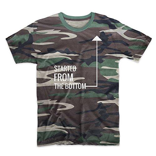 Hustler Top Shirt (Started From The Bottom Hustler Geld Motivation Tarnung Herren T-Shirt Camo Large)