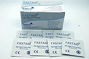 Fastaid 70% IPA Alcohol Wipes for Electronics, Swabs, Tattoo, Pre-injection Swabs, 1000 Pieces (10 Boxes)