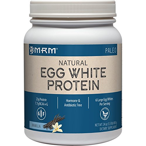 Natural Egg White Protein, French Vanilla, 24 oz (680 g) - MRM - Qty 1 (Protein Vanille Egg)