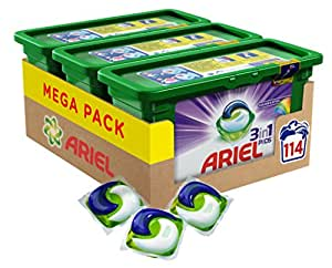 Ariel 3 in 1 Colour Washing Capsules, 114 Washes - Pack of 3
