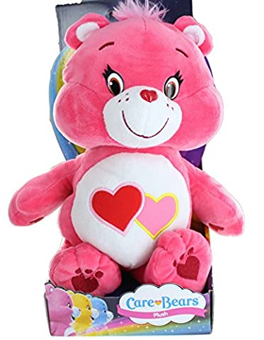 Care Bears Boxed Toy - 12 Inch Love a Lot Bear Super Soft Plush