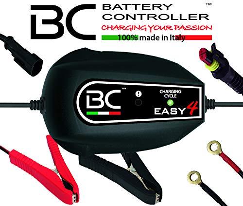 BC Battery Controller BC EASY 4, Caricabatteria e Mantenitore Intelligente a 4 Cicli per tutte le Batterie Auto e Moto 12V Piombo-Acido, 1 Am