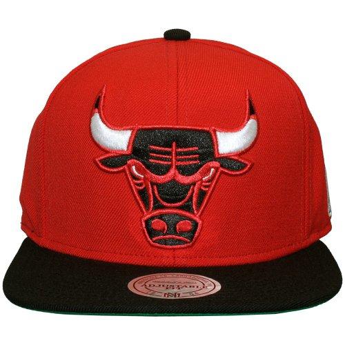 Mitchell & Ness - Casquette Snapback Homme Chicago Bulls XL Logo 2Tone